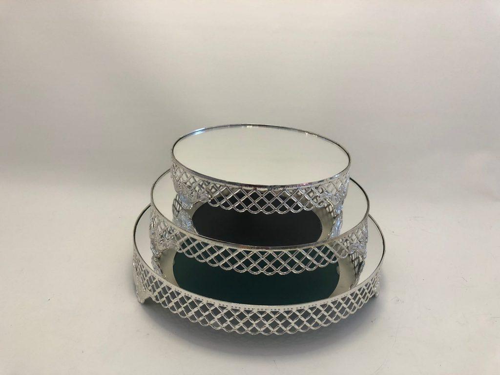 Mutluson Atölyesi - 35 cm gümüş Yuvarlak-Jardinyer