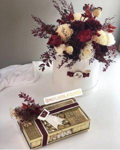 söz çiçeği ve çikolatası modelleri