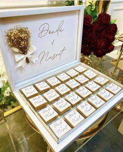 İsme özel kutulu kız isteme çikolatası Gold