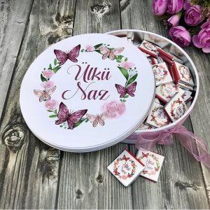Yazılı kutu İsime özel kutulu kız isteme çikolatası