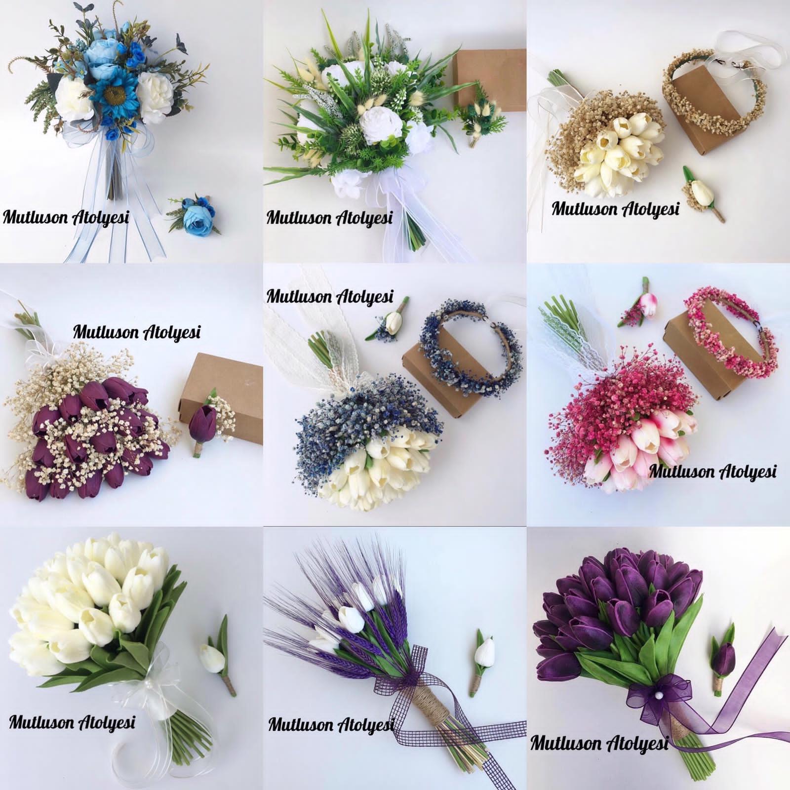 Gelin çiçeği buketi modelleri