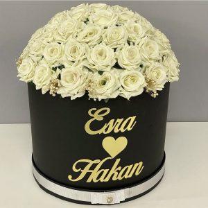 Söz çiçeği modelleri Beyaz gül
