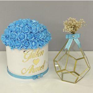 Kız isteme çiçeği bebe mavisi